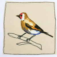Bullfinch applique card