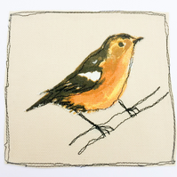 Chaffinch applique card