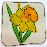 Beautiful spring daffodil card