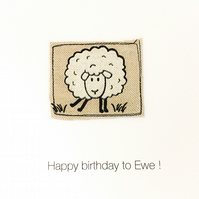 Happy Birthday to 'Ewe'