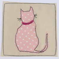 Cat Applique Card