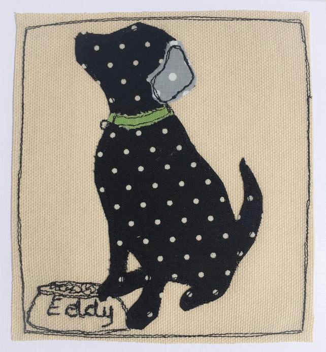 Custom order - Eddy the black labrador