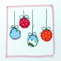Christmas bauble appliq cards
