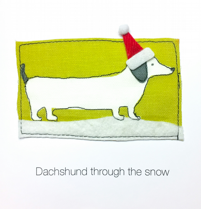 Dachshund through the snow