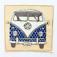 VW Camper Van Applique Card