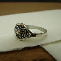 "small woven silver and gold ring . collection "" les delicates"""