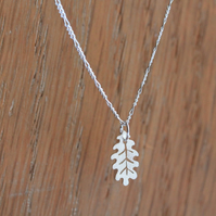 Oak Leaf Necklace - Tiny Leaf Necklace - Silver Leaf Necklace