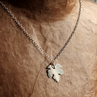 Little Leaf Necklace - Handmade Silver Necklace - Silver Leaf Pendant