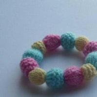 'Dolly Mixture' Knitted Bead Bracelet