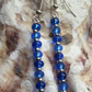 SUMMER TIME BARGAIN - Blue and Silver Seed Bead Drop Earrings