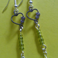 "SUMMER TIME BARGAIN - ""Amy"" Green Earrings."
