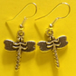 SUMMER TIME BARGAIN - Silver Tone Dragonfly Drop Earrings