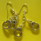 SUMMER TIME BARGAIN - Silver Tone Handcuff Drop Earrings