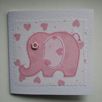 Baby elephant greetings card