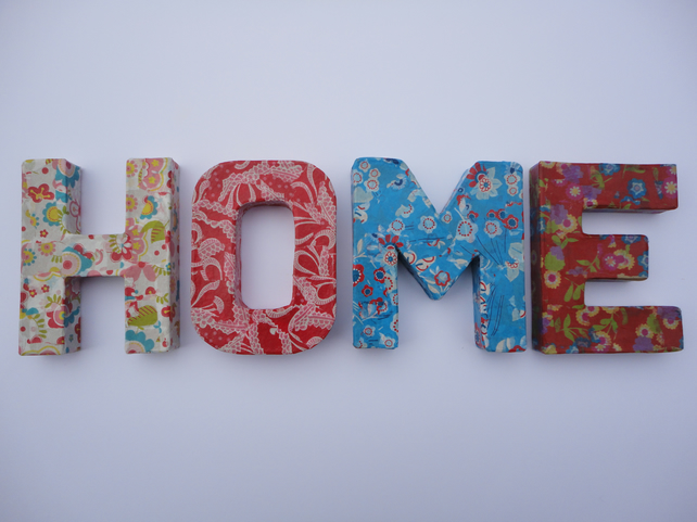 Decorative Decopatch Letters Home Folksy