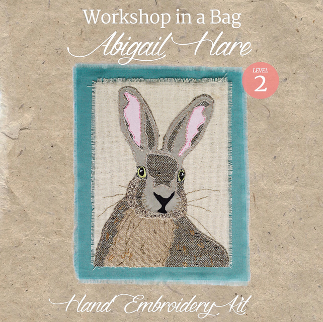 'Workshop in a Bag' Abigail Hare, Hand Embroidery Textile Art Kit