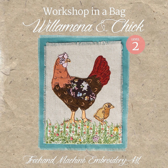 'Workshop in a Bag' Willamena&Chick, Freehand Machine Embroidery Textile Art Kit