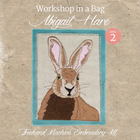 'Workshop in a Bag' Abigail Hare, Freehand Machine Embroidery Textile Art Kit