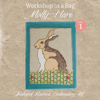 'Workshop in a Bag' Molly Hare, Freehand Machine Embroidery Textile Art Kit
