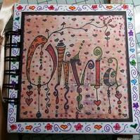 Made To Order Childrens Mini Colouring Book Journal Album