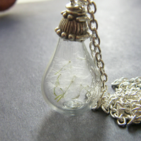Mothers Day Necklace, Dandelion Pendant - MAKE A WISH