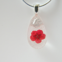Poppy Real Flower Necklace - POPPY