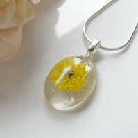Flower Necklace - Wearable Art - SUNFLOWER