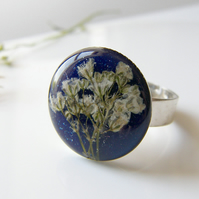 Flower Resin Ring - Gypsophila - BABY'S BREATH