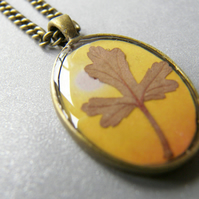 Real Leaf Botanical Necklace