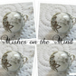 4 x Dandelion Tiny Glass Globe Wish Necklaces for Bridesmaids