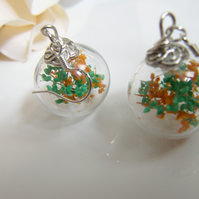 Baby's Breath Flower Earrings in Hand Blown Glass Beads