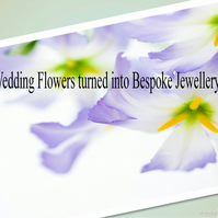 Bespoke Custom Made Jewellery Piece, Wedding Bouquet Real Flower Necklace