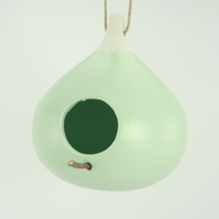 Pastel Green miniature bird feeder