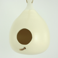 Pastel Yellow miniature bird feeder