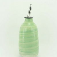 Pastel Green oil decanter