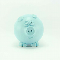 Pastel blue piggy bank