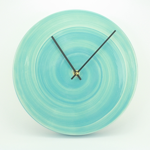 MADE TO ORDER Pastel blue clock – large