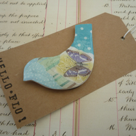 Pretty Collage Bird Magnet