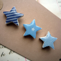 Pretty Mini Star Collage Brooch Pin Sets