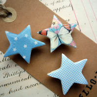 Pretty Set of Star Magnets with Sky Blue Dots, Stars and Butterfly