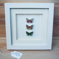 Vintage Style Framed Butterflies (3)