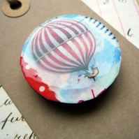 Handmade Vintage Stamp Hot Air Balloon Magnet