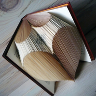 Vintage Hardback Heart Book Fold Sculpture