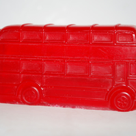 Red Double Decker Bus Handmade Soap