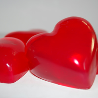 Red Rose Love Heart Novelty Soap