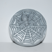 Handmade Novelty Spiderweb Spider Soap Grey Bar