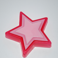 Super Star Red Handmade Soap Teacher Present Two Tone Pink
