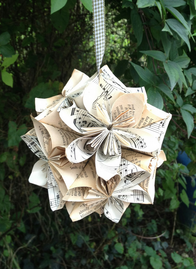origami hanging flower ball folksy