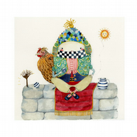 Humpty Dumpty Illustration Print A4 8x10 print