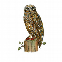 Owl illustration A4 giclee print